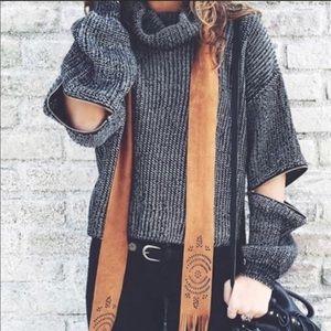 LF elbow zip sweater crop top style